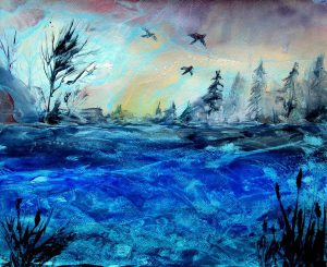 Cool colors painting